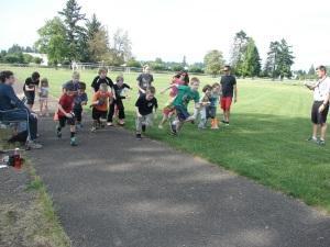 Youth Running Club race