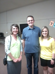 Saying goodbye to Tim and April Lesher at the Canby Center goodbye party