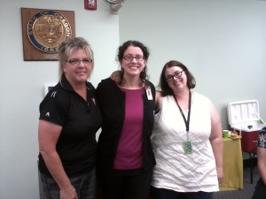 Theresa Enderle, Melissa Kelly, and Lizzie Figuero at Melissa's last board meeting