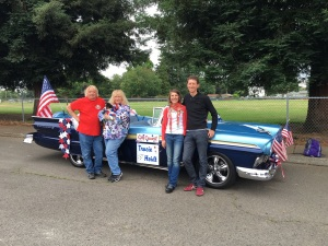 Al, Jeanne, Me, and Myron after the Parade